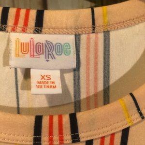 LuLaRoe Dresses - XS LulaRoe striped dress😍